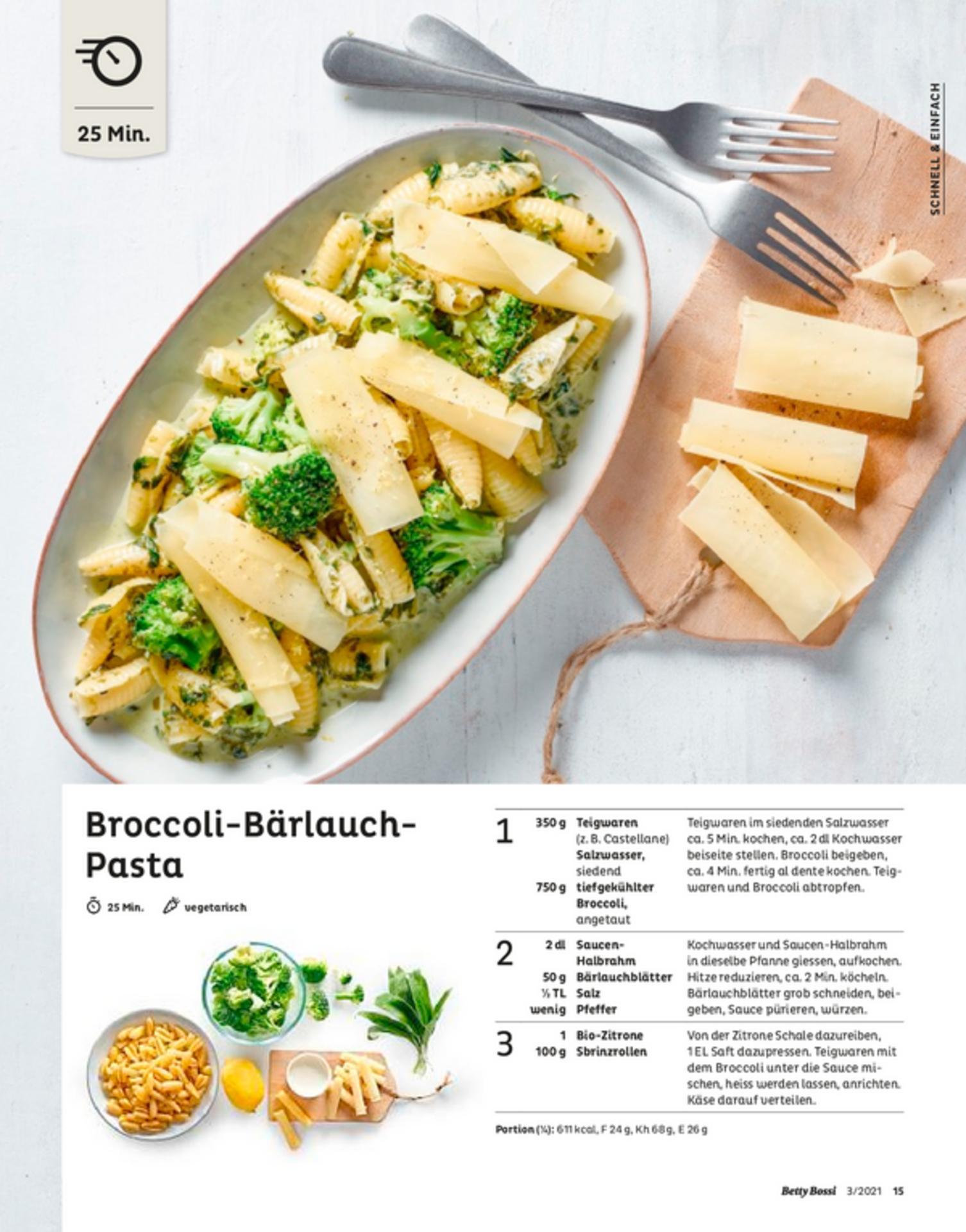 Broccoli-Bärlauch- Pasta