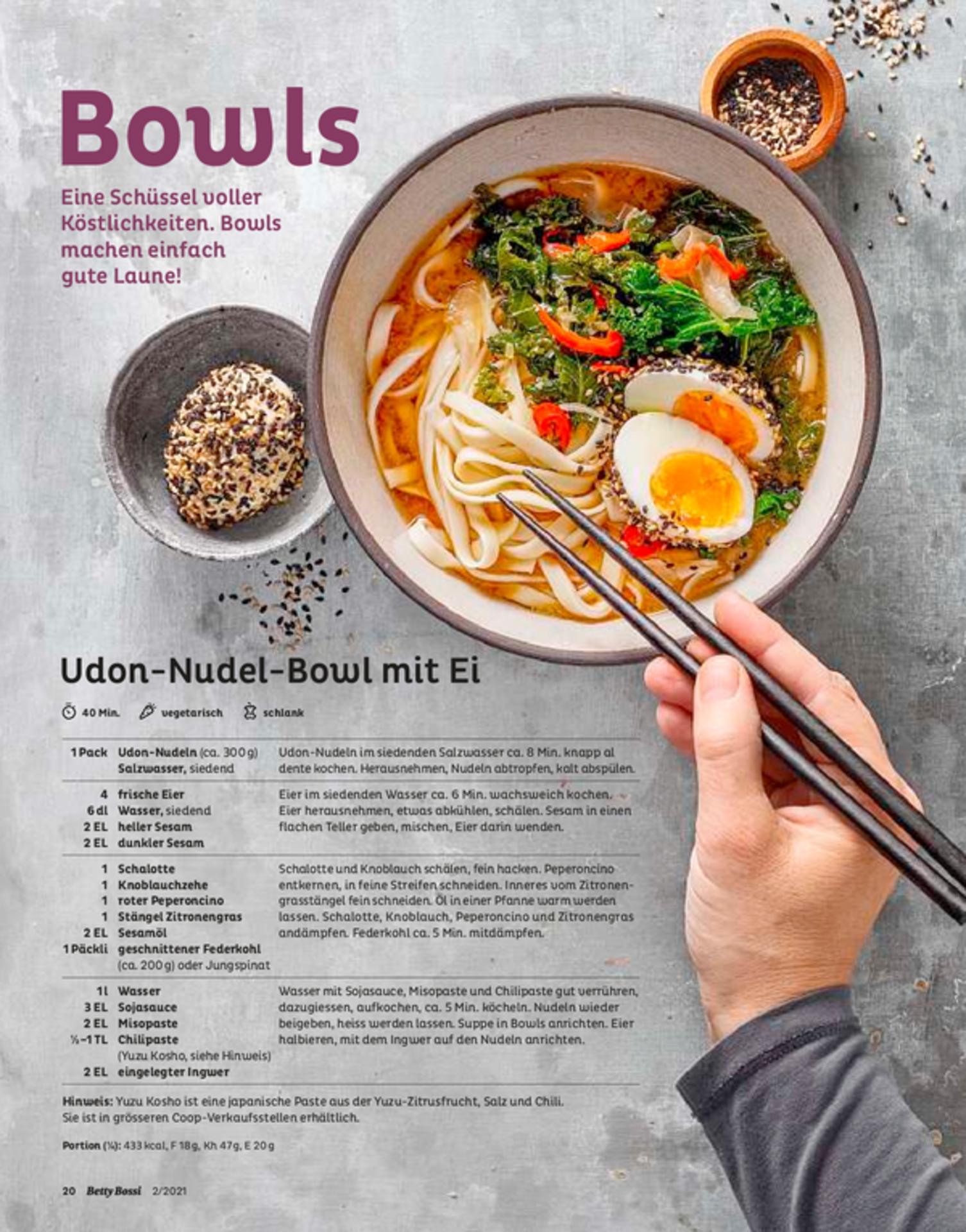 Udon-Nudel-Bowl mit Ei