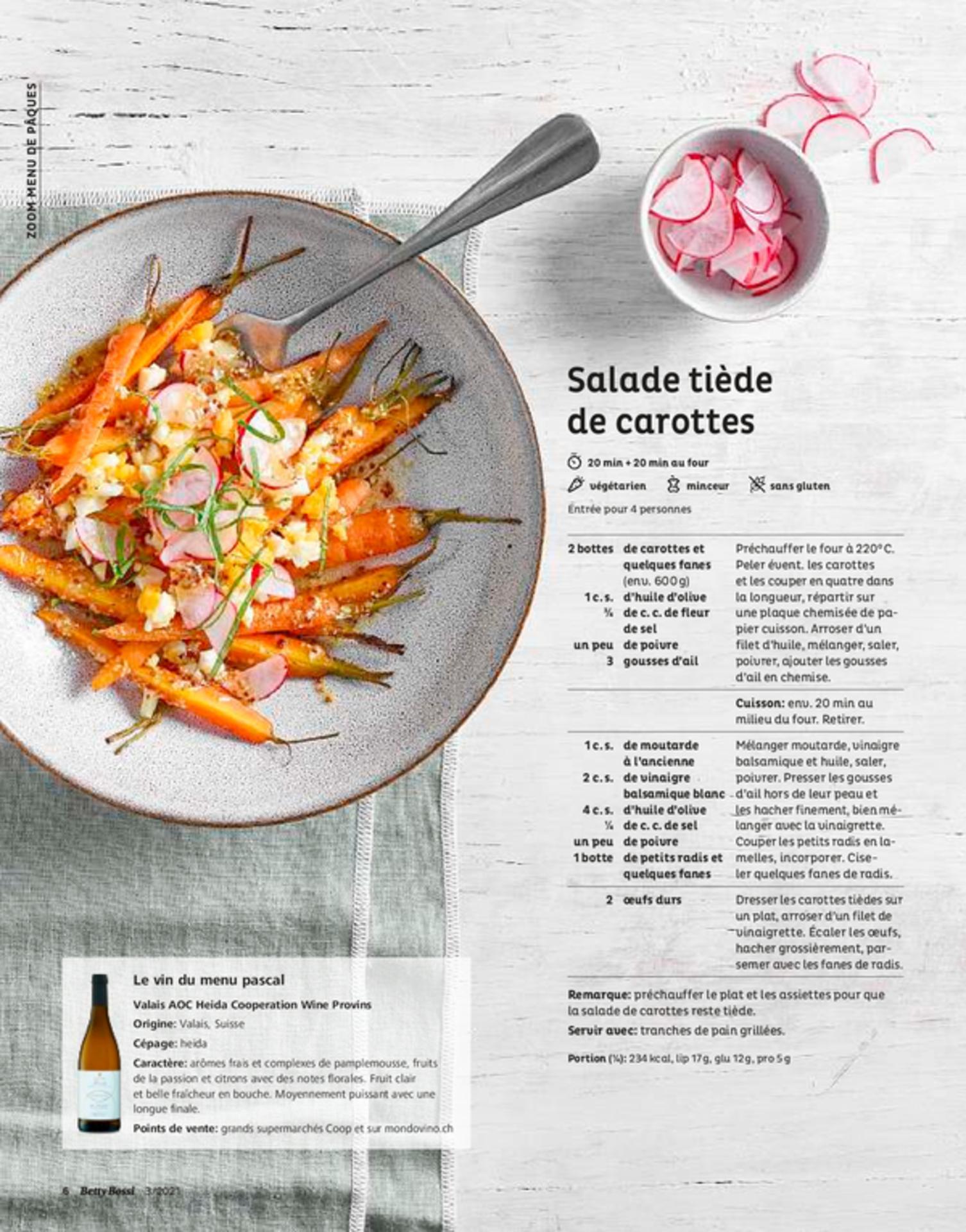 Salade tiède de carottes